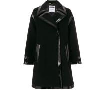Oversized-Mantel mit glänzendem Einsatz