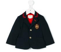 crest patch blazer - kids