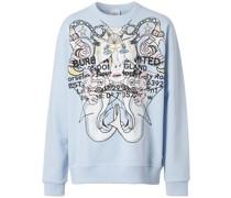 Sweatshirt mit Montage-Print