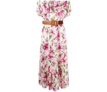 floral-print ruffle-trim dress
