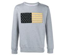 Embroidered Flag Sweatshirt