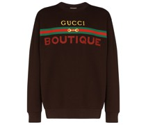 "Sweatshirt mit ""Boutique""-Print"