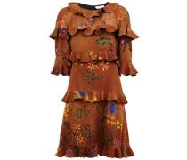 - Volant-Kleid mit floraler Stickerei - women