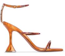 'Gilda' Sandalen mit Kristallen, 95mm