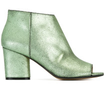 Peeptoe-Stiefeletten im Metallic-Look - women