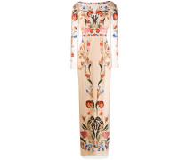 'Toledo' Robe mit Blumenstickerei