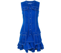 frill-trim fitted dress