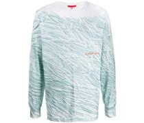 T-Shirt mit Knitter-Print