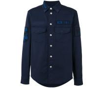 Military-Hemd mit Patches - men - Baumwolle - 46