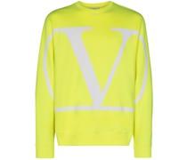 Neon-Sweatshirt mit Logo