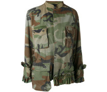 Camouflage-Jacke mit Rüschen - women