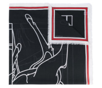 Schal mit Bambi-Print - women