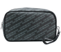 logo print wash bag