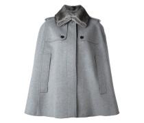 fur-collar cape coat