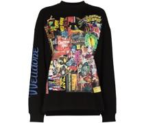 Sweatshirt mit Horror-Print