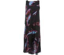 Kleid mit Fisch-Print