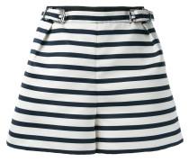 striped shorts - women