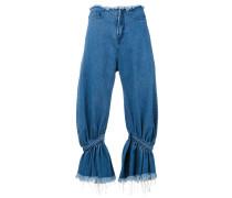 Jeans mit gerafftem Bein - women - Baumwolle - 6