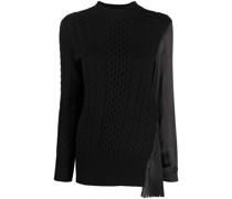 Pullover mit plissiertem Einsatz