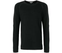 Sweatshirt mit Zopfmuster