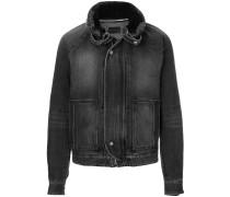 faded fur collar jacket