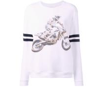Sweatshirt mit Motorrad-Print