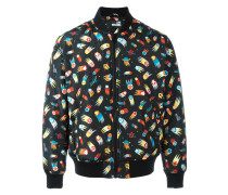 space print bomber jacket