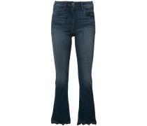 - Cropped-Jeans mit ungleichmäßigem Saum - women