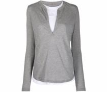 layered long-sleeve jumper
