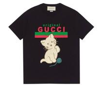 T-Shirt mit Kätzchen-Print