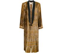velvet kimono coat
