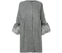 Mantel mit Pelzbesatz