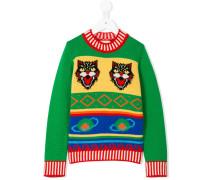 Pullover mit Feline-Motiv