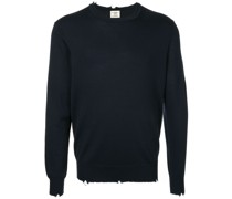 chewed round neck jumper