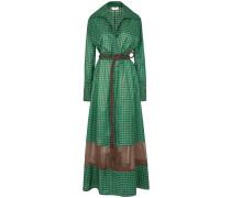 Langes Kleid mit Vichy-Karo