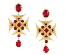 Maltese cross clip-on earrings