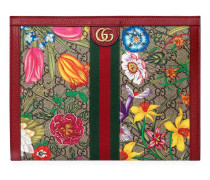 "'Ophidia GG' Clutch mit ""Flora""-Print"