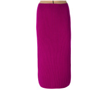 ribbed bodycon mid-length skirt