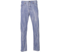 Jeans mit Wolf-Patch