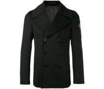 embroidered patch coat - men