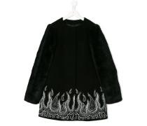 Paisley embroidery midi coat