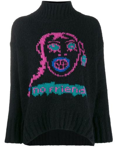 'M-Cara' Intarsien-Pullover