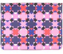 Große Clutch mit geometrischem Print