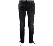 Skinny-Jeans mit Schnürung