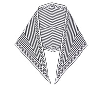 Seidenbluse mit geometrischem Print