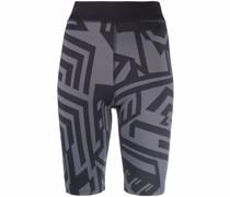 Shorts mit abstraktem Print