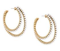 Doppelte Kreolen mit Perlen