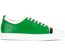 triple tone low-top sneakers