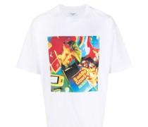 T-Shirt mit Cowboy-Print