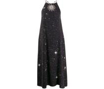 Neckholder-Kleid mit Stern-Print
